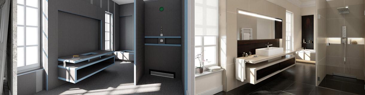 Ново – Системни решения за баня Wedi